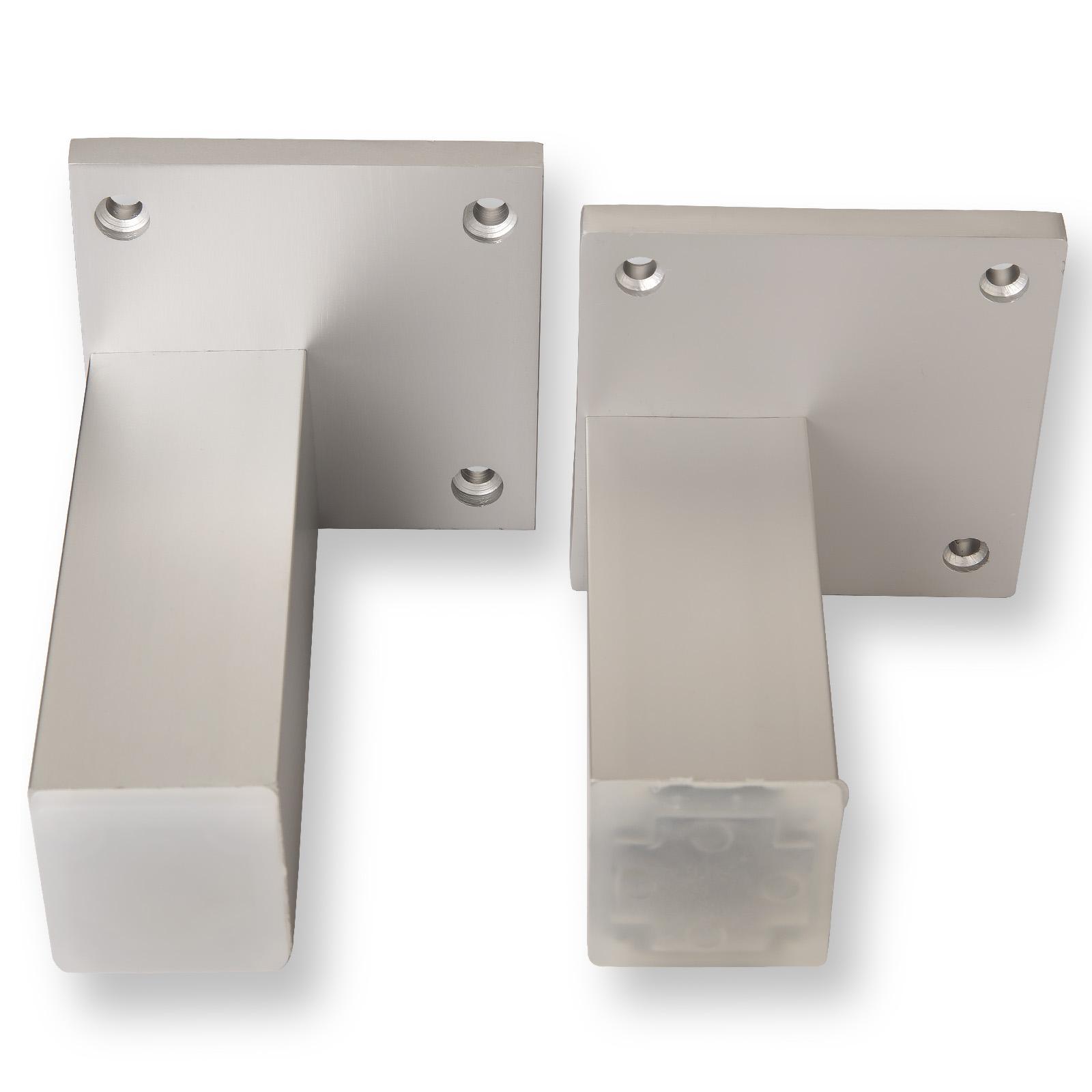 Möbelfüße Metall Eckig.Möbelfuß Sierra 100 Mm 120 Mm Eckig Chrom Matt So Tech De