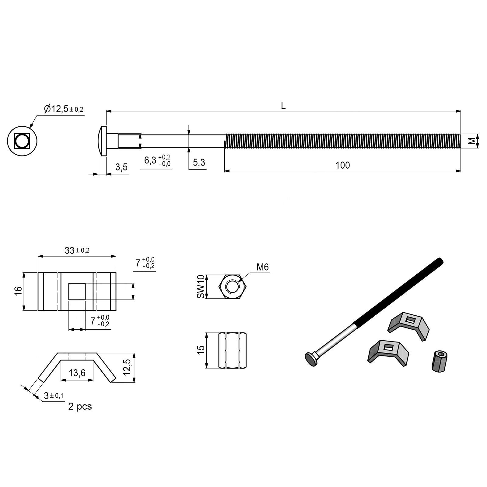 SO-TECH/® SO-TECH/® Verbindungsbeschlag Arbeitsplattenverbinder Massivholzverbinder Tischplattenbeschlag 150 mm