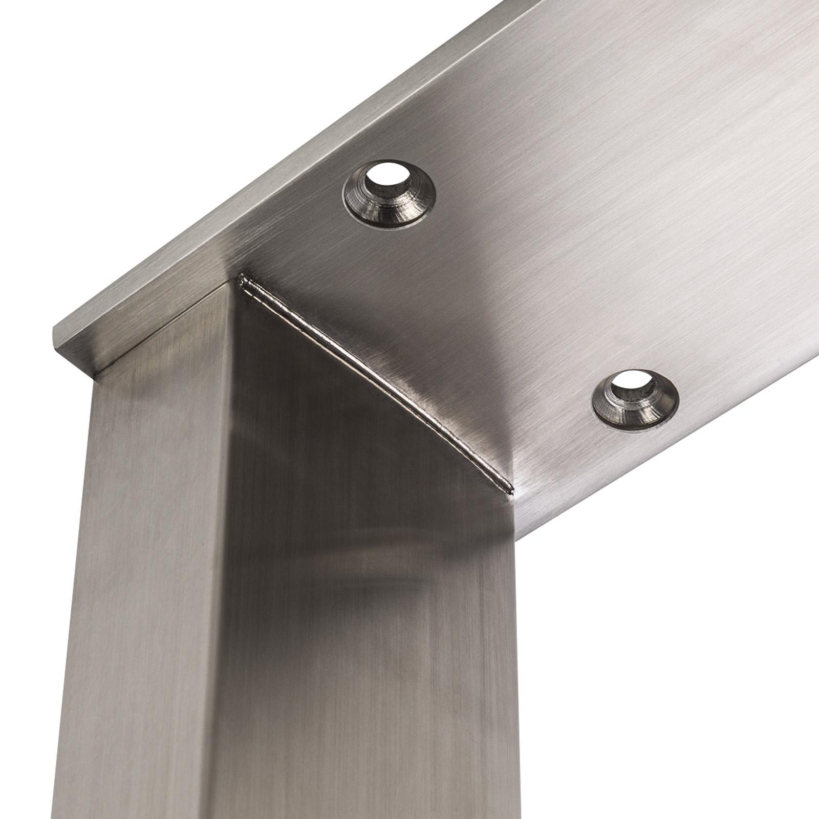 SOTECH® Tischgestell TAB Stahl schwarz matt Profil 80 x 40mm Tischbein Tischkufe