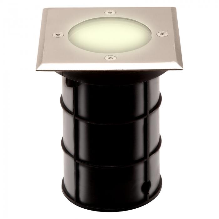 edelstahl bodeneinbaustrahler alfa eckig 110 x 110 mm so. Black Bedroom Furniture Sets. Home Design Ideas