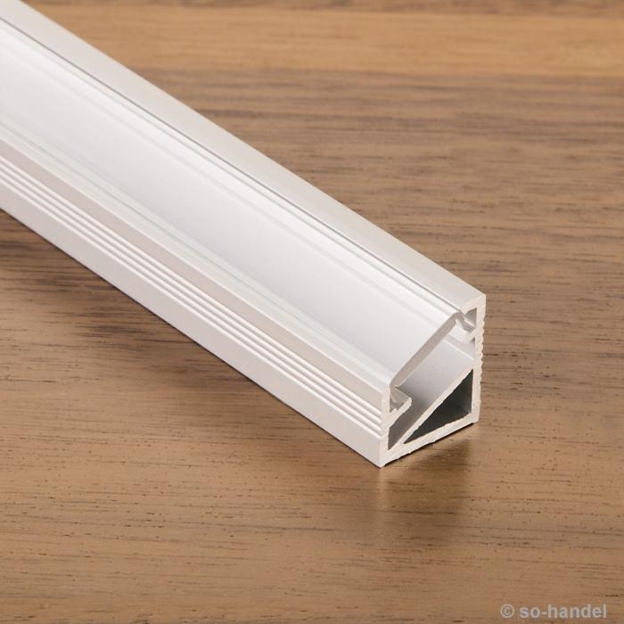 led profil 66 alu eloxiert opal eckprofil eck profil aluprofil aluminiumprofil profilschiene. Black Bedroom Furniture Sets. Home Design Ideas