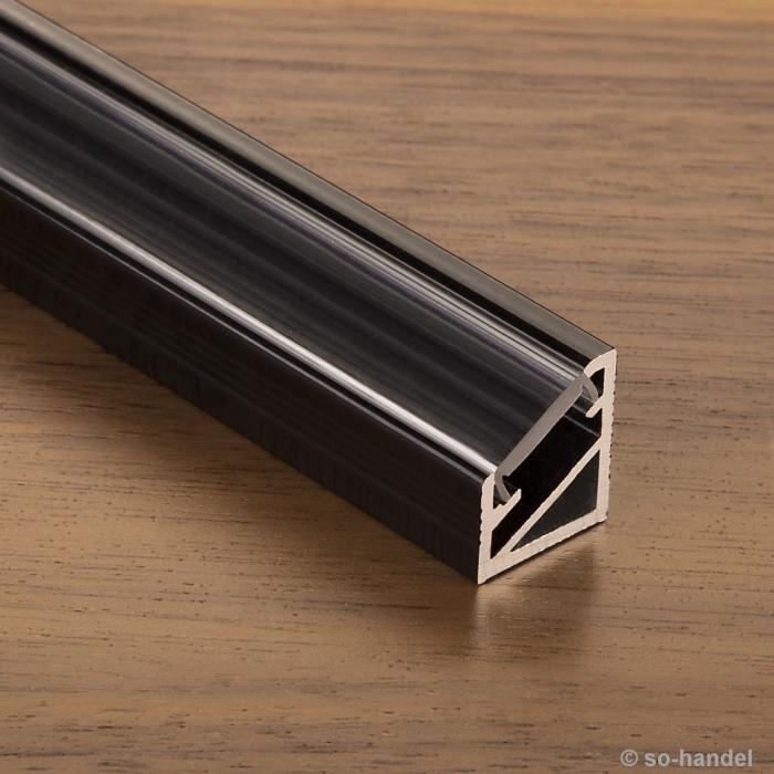 led profil 66 schwarz klar eckprofil eck profil aluprofil. Black Bedroom Furniture Sets. Home Design Ideas
