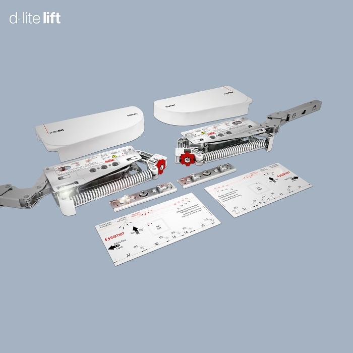 d-lite Lift Klappenbeschlag Typ C1 grau max 14 Kg Kraftspeicher von SO-TECH/®